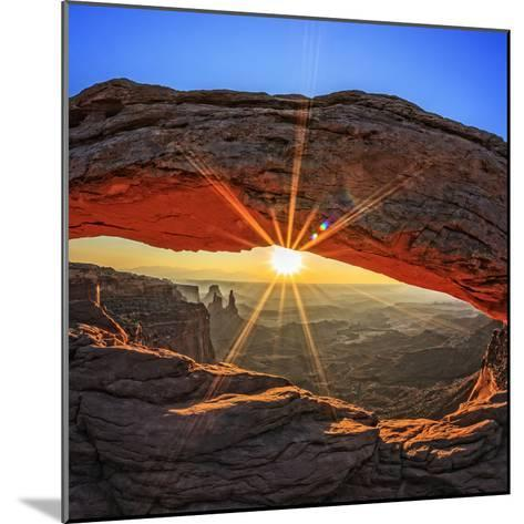 Famous Sunrise at Mesa Arch in Canyonlands National Park, Utah, USA-prochasson frederic-Mounted Photographic Print