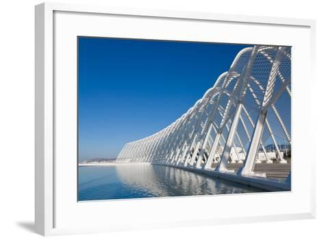 Steel Archway at Stadium in Greece-Nick Pavlakis-Framed Art Print