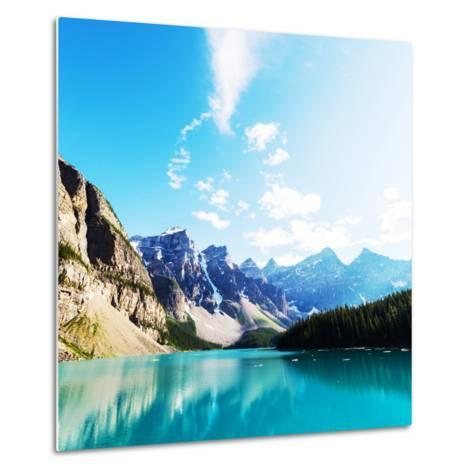 Beautiful Moraine Lake in Banff National Park, Canada-Galyna Andrushko-Metal Print