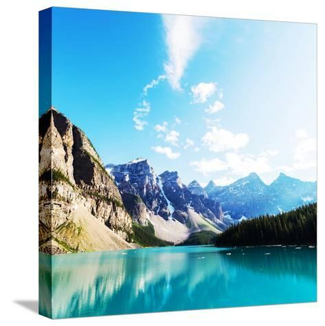 Beautiful Moraine Lake in Banff National Park, Canada-Galyna Andrushko-Stretched Canvas Print