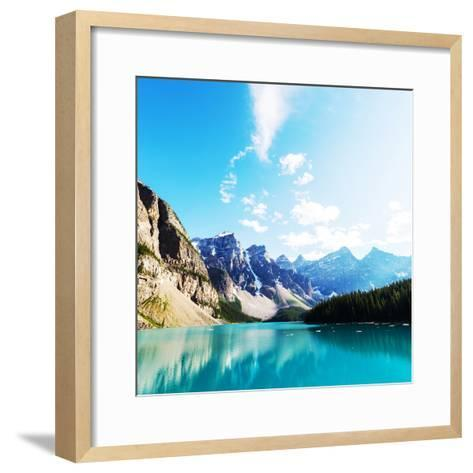 Beautiful Moraine Lake in Banff National Park, Canada-Galyna Andrushko-Framed Art Print