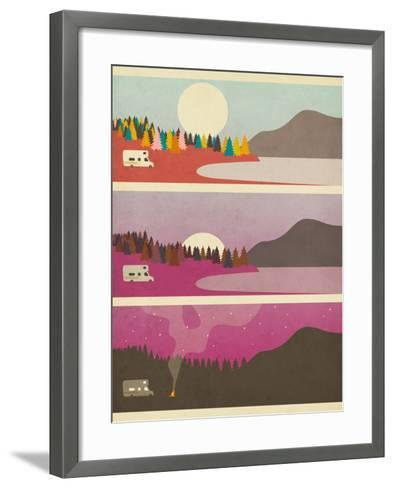 Campfire-Jazzberry Blue-Framed Art Print