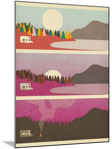 Campfire-Jazzberry Blue-Mounted Art Print