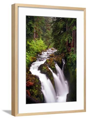 Sol Duc River Falls-Douglas Taylor-Framed Art Print