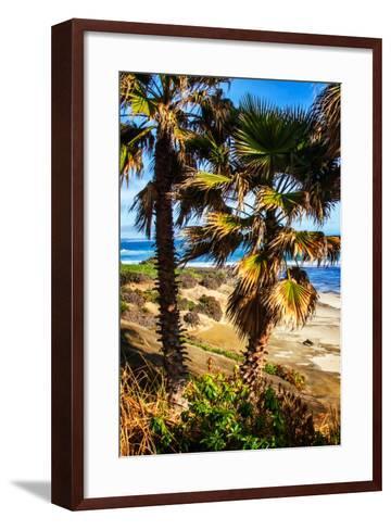 La Jolla Palms I-Alan Hausenflock-Framed Art Print