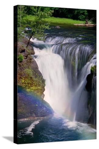 Lewis River Falls-Douglas Taylor-Stretched Canvas Print