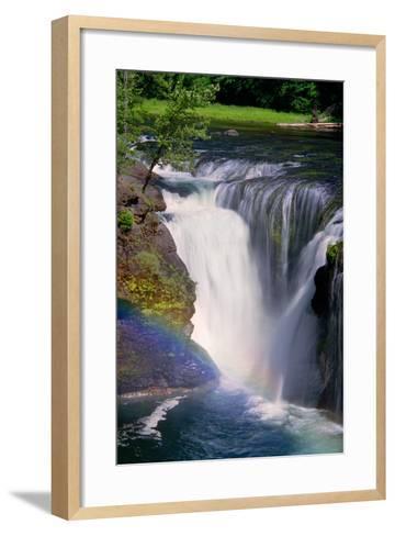 Lewis River Falls-Douglas Taylor-Framed Art Print