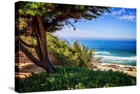 Del Mar Beach I-Alan Hausenflock-Stretched Canvas Print