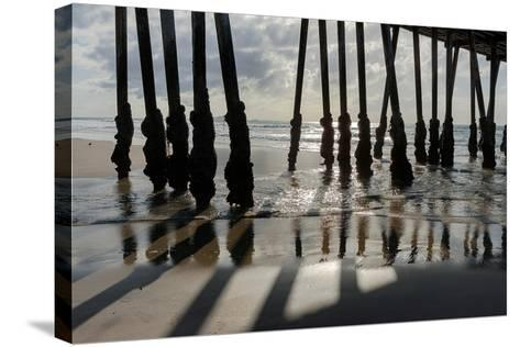 Pier Silhouette I-Lee Peterson-Stretched Canvas Print