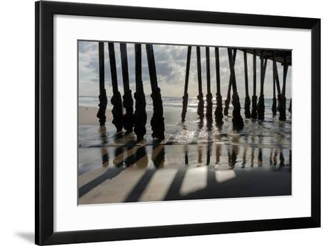 Pier Silhouette I-Lee Peterson-Framed Art Print