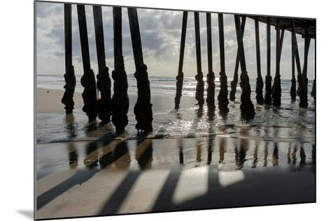 Pier Silhouette I-Lee Peterson-Mounted Photo