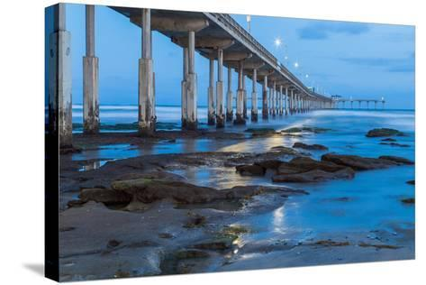 Evening Pier II-Lee Peterson-Stretched Canvas Print