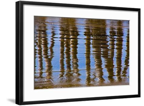 Pier Reflections II-Lee Peterson-Framed Art Print