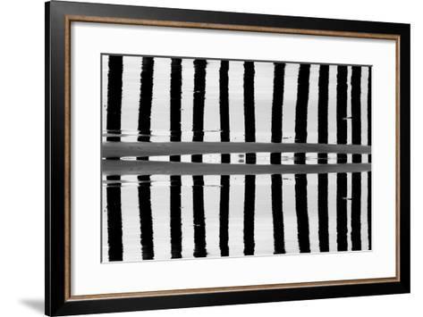 Reflected Dual Pilings-Lee Peterson-Framed Art Print