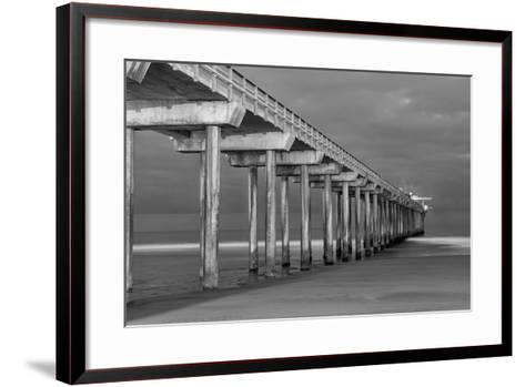 Scripps Pier BW I-Lee Peterson-Framed Art Print
