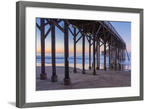 San Simeon Pier II-Lee Peterson-Framed Art Print