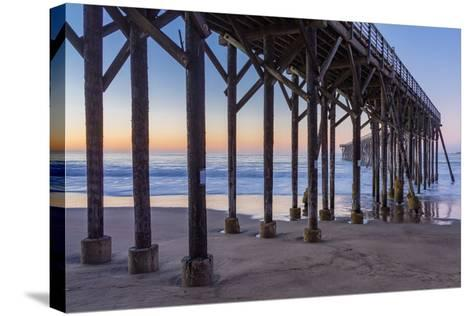 San Simeon Pier II-Lee Peterson-Stretched Canvas Print