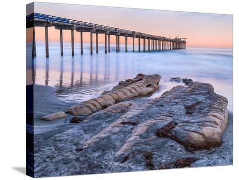 Scripps Pier III-Lee Peterson-Stretched Canvas Print