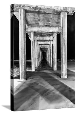 Under Scripps Pier-Lee Peterson-Stretched Canvas Print