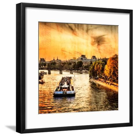 River Seine at Sunset II-Alan Hausenflock-Framed Art Print