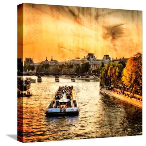River Seine at Sunset II-Alan Hausenflock-Stretched Canvas Print