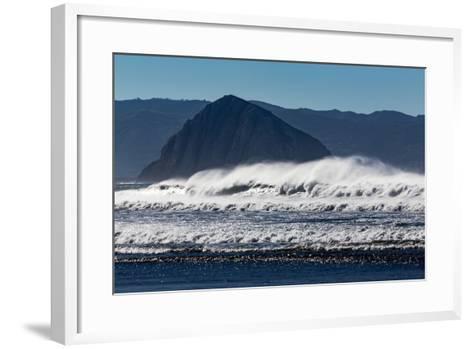 Morro Rock Waves-Lee Peterson-Framed Art Print