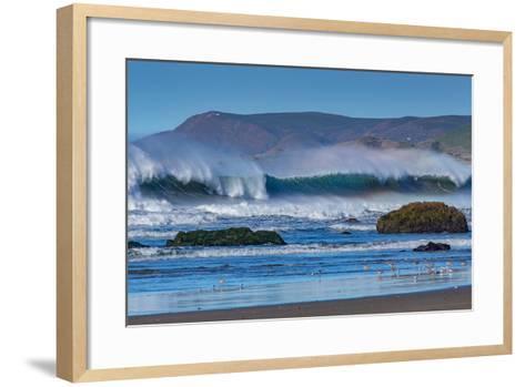 Waves in Cayucos II-Lee Peterson-Framed Art Print