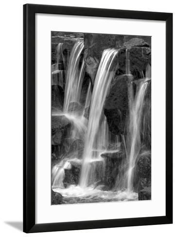 Water on the Rocks I BW-Douglas Taylor-Framed Art Print