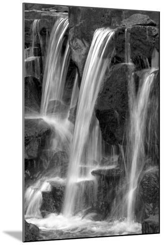 Water on the Rocks I BW-Douglas Taylor-Mounted Photo