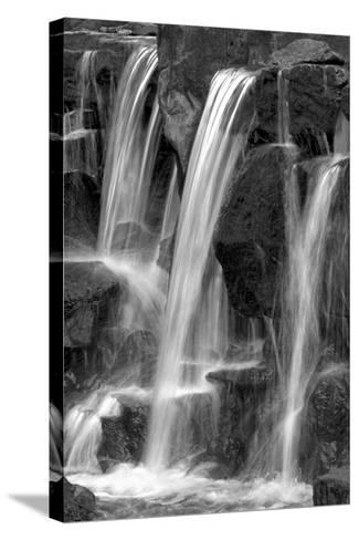 Water on the Rocks I BW-Douglas Taylor-Stretched Canvas Print