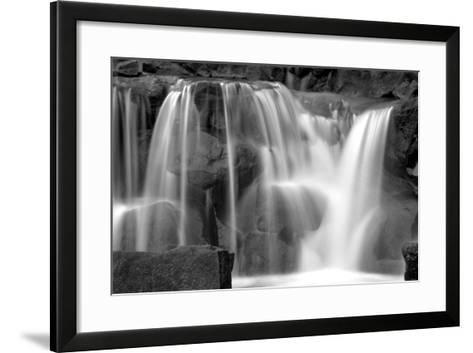 Sunset Waterfall II BW-Douglas Taylor-Framed Art Print