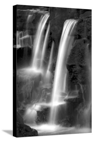 Twilight Waterfall I BW-Douglas Taylor-Stretched Canvas Print