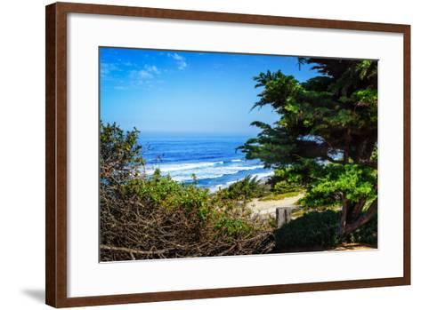 Del Mar Beach II-Alan Hausenflock-Framed Art Print