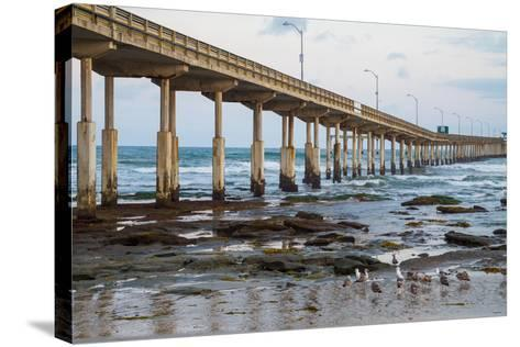 Ocean Beach Pier I-Lee Peterson-Stretched Canvas Print