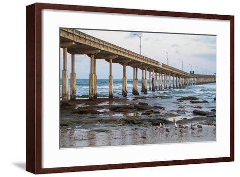 Ocean Beach Pier I-Lee Peterson-Framed Art Print