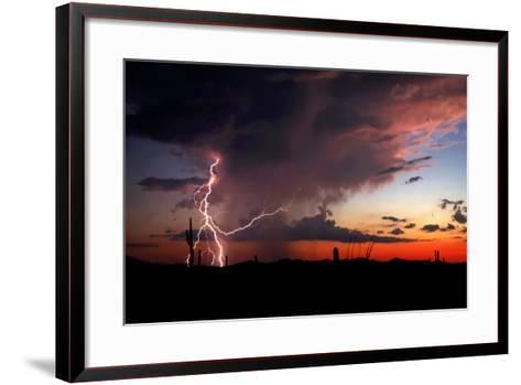 Twilight Lightning I-Douglas Taylor-Framed Art Print