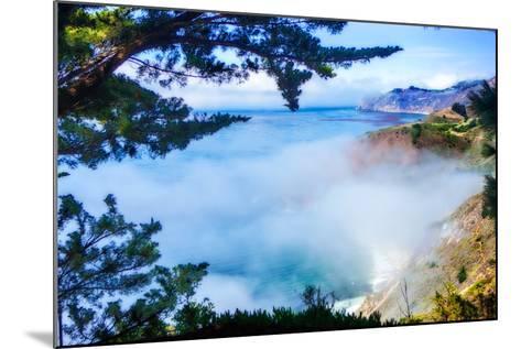Fog Over Big Sur-Alan Hausenflock-Mounted Photo