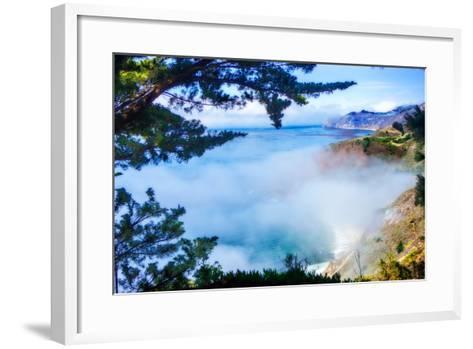 Fog Over Big Sur-Alan Hausenflock-Framed Art Print