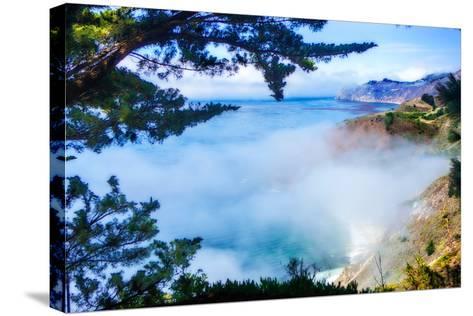 Fog Over Big Sur-Alan Hausenflock-Stretched Canvas Print