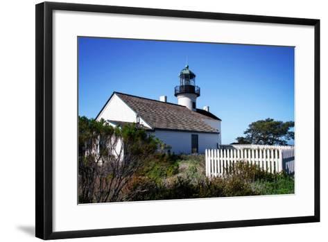 Point Loma Lighthouse II-Alan Hausenflock-Framed Art Print