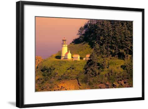 Heceta Head Lighthouse-George Johnson-Framed Art Print