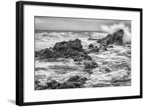 Ho'okipa BW-Stan Hellmann-Framed Art Print