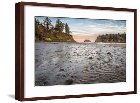 Sunrise at Sunset Bay-Stan Hellmann-Framed Art Print