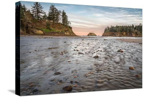 Sunrise at Sunset Bay-Stan Hellmann-Stretched Canvas Print