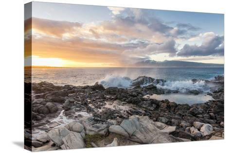 West Maui Sunset-Stan Hellmann-Stretched Canvas Print
