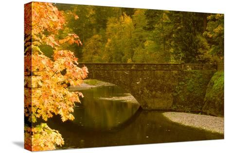 Stone Bridge-Ike Leahy-Stretched Canvas Print