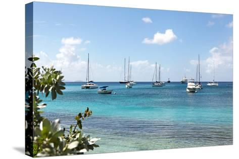 Caribbean Boats II-Karyn Millet-Stretched Canvas Print