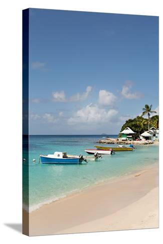 Caribbean Boats III-Karyn Millet-Stretched Canvas Print
