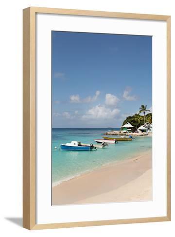 Caribbean Boats III-Karyn Millet-Framed Art Print