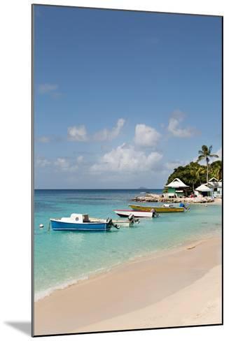 Caribbean Boats III-Karyn Millet-Mounted Photo